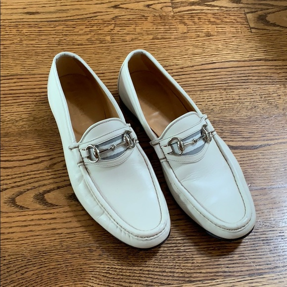 Gucci Shoes | Gucci White Loafers With